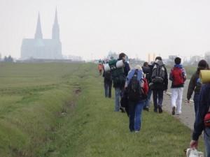 en colonne près de Chartres 2013